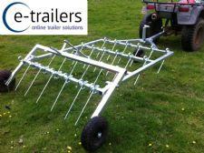 ATV / TRACTOR - SPRING TINE HARROW TRAILER